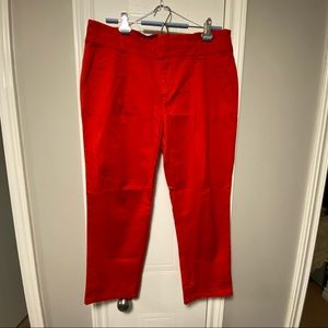 🇨🇦Cropped Bandage Pants, Red High Waisted Capris